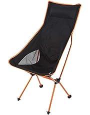 LSAR Silla de Pesca, Silla de Camping Resistente Plegable Duradera, Resistente al Desgaste para Pesca de Camping