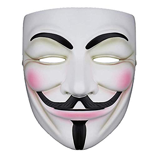 NEWX Hacker Mask v für Kostüm - Anonyme Maske V Vendetta Guy Masken für 2021 Halloween Party Cosplay Halloween Fancy Adult Costume Accessoires