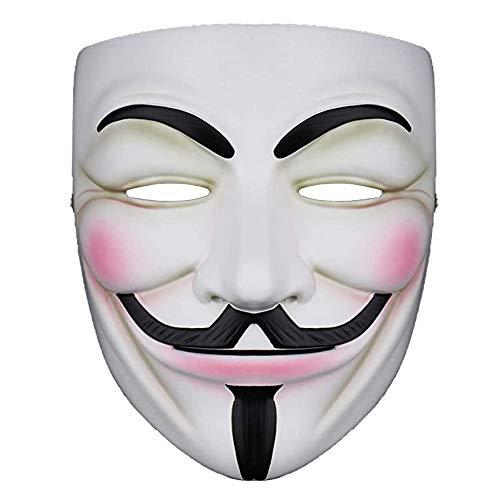 NewX Hacker Mask v für Kostüm - Anonyme Maske V Vendetta Guy Masken für 2020 Halloween Party Cosplay Halloween Fancy Adult Costume Accessoires