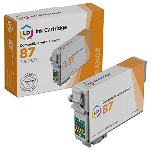 LD Products Remanufactured Ink Cartridge Replacement for Epson T087 ( Orange )