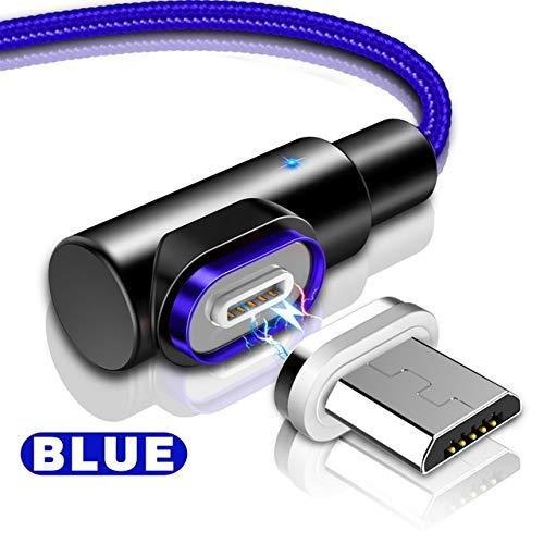i-Tronixs - Cavo di Ricarica USB per ASUS Transformer Pad TF701T, ad Angolo retto, 90 Gradi, a Forma di L, Colore: Blu