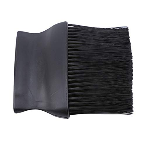 Bigsweety Salon Coiffure Cou De Poussière Brosses Nettoyant Brosse Nylon Cheveux Poignée Plate pour Coiffeurs Barber