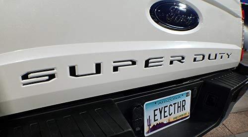 EyeCatcher Tailgate Insert Letters fits 2017-2019 Ford Super Duty (Black)