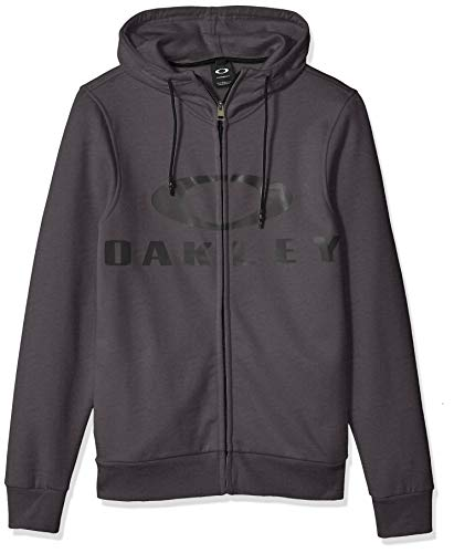 Oakley Men's Bark Fz Hoodie, Forged Iron, L