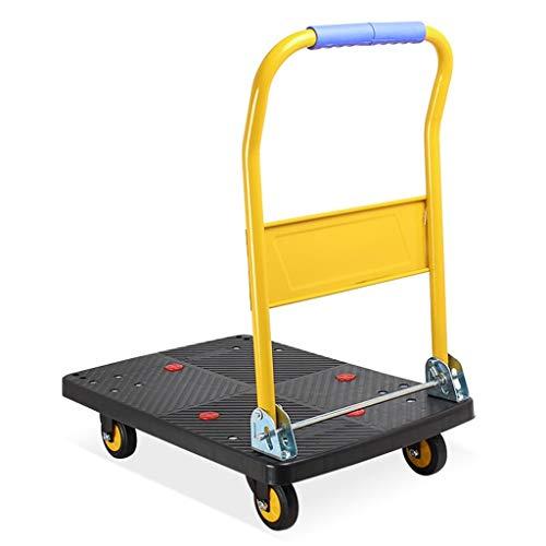 KUN PENG SHOP Gold Platform Cart Hoge Capaciteit Over 150kg Platform Truck Vouwwagen Draagbare Platform Cart