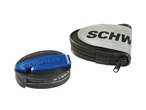 Schwalbe Werkzeug Rennrad-Satteltasche incl. SV15 Schlauch und Reifenheber Fahrradzubehör, schwarz, 25 x 20 x 13cm