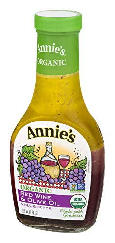 Annies Homegrown Organic Red Wine & Olive Oil Vinaigrette, 8 Ounce