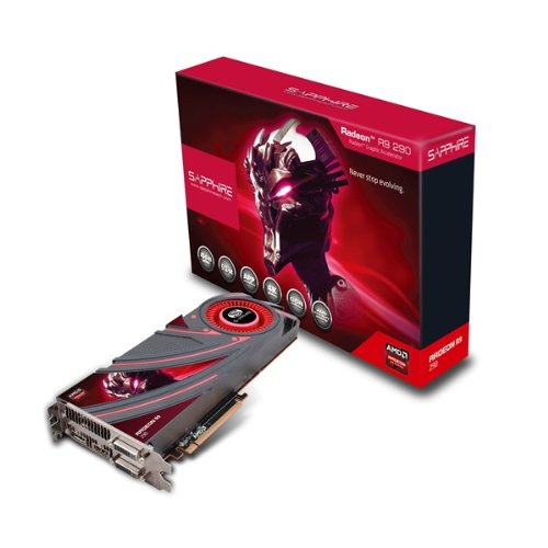 Sapphire Radeon R9 290 4GB GDDR5 Dual DVI-D/HDMI/DP PCI-Express Graphics Card (21227-00-40G)
