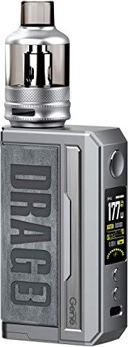DRAG 3 Kit, Originale VOOPOOO Drag 3 177W TC con Drag 3 Box Mod con serbatoio TPP e PnP da 5,5 ml alimentato da doppia batteria esterna 18650 compatibile con tutte le bobine TPP