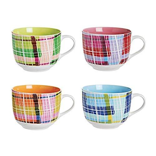 Excelsa Patchwork, Tazas de cerámica, sin platillo, multicolor