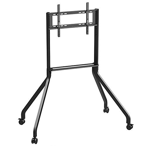 dehong Stainless Steel Swivel TV Floor Stand for 42—65 Inches TVs,Black TV Floor Cabinets for Living Room on Wheels Castors Up to 60KG Tilting Height Adjustable,Max VESA 600x400mm