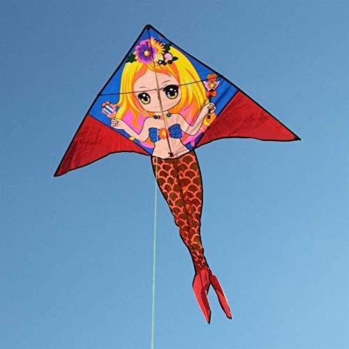 Forte e Robusto Aquilone, Bambini Kite Belle Aquiloni for Kids Facile da pilotare for la Spiaggia Outdoor 7m Potenza Triangolo Aquiloni Scheletro Duro (Colore: Nero) (Color : Red)