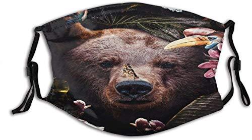 Keyboard cover Gesichtsschutz Mundschutz Bruine Beer Jungle Poster Nasenschutz Wiederverwendbar Waschbar Gesichts Schals Mit 6 Filtern