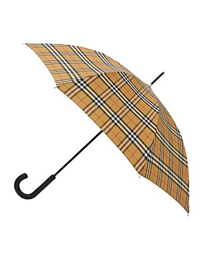 BURBERRY Unisex Vintage Check Sustainable Walking Umbrella in Archive Beige