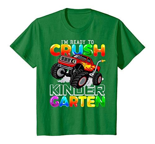 Funny T-Shirt Back to School: I'm Ready to Crush Preschool Monster Truck