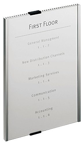"""Price comparison product image DURABLE Easy to Update Office Wall Mounted Info Sign 8-1 / 2"""" x 11-7 / 8"""",  Aluminum (480623)"""