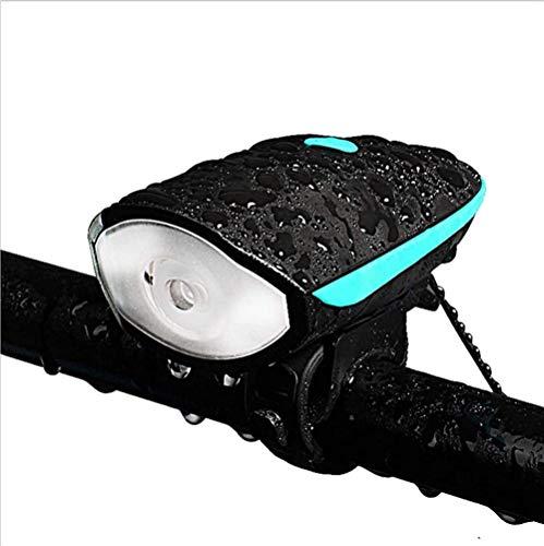 HNsusa Luces de Bicicleta Faros Delanteros de Coche Carga USB Linterna de deslumbramiento Nocturno con bocina eléctrica Bicicleta Accesorios para Bicicletas Equipo de Ciclismo