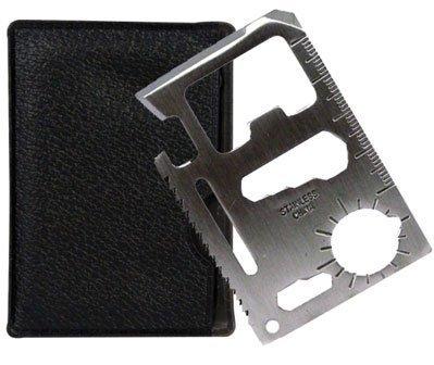 BlueTop(TM) 11 Function Credit Card Size Survival Pocket Tool