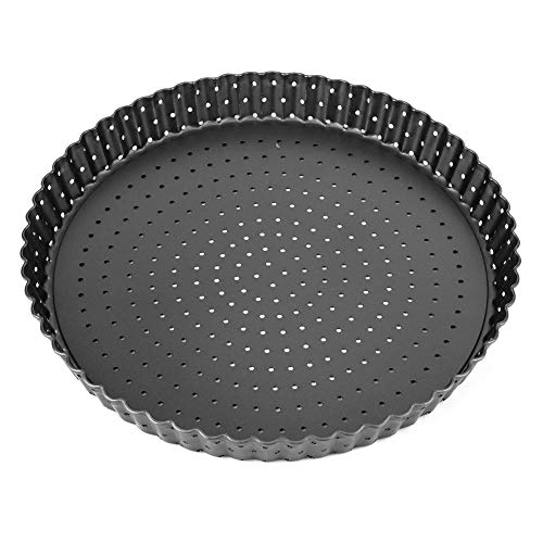 Utensilios de cocina para hornear, para pizza, antiadherente, de alta resistencia, fácil de desmoldear pizza, bandeja para hornear para tartas para el hogar (grande (9 pulgadas)