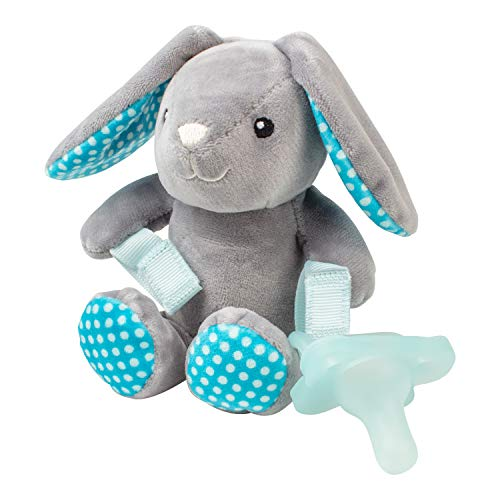 Dr. Brown's Lovey with One-Piece Pacifier, 0m+, Baby Bunny, Blue