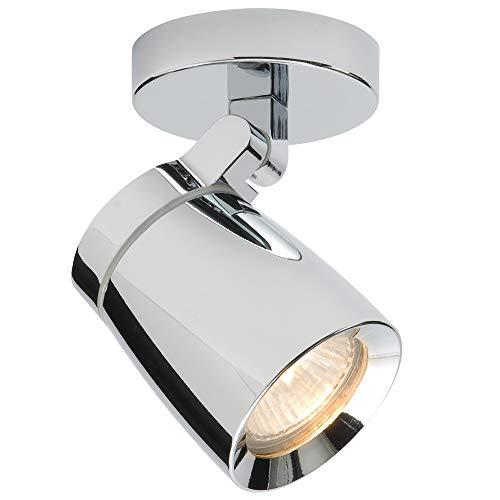35W GU10 | IP44 badrumstak spotlight | kromplatta och klar glasskärm | fuktbeständig modern rund downlight | köksö bänkskiva | rörlig lutning och roterande huvudbelysning | dimbar
