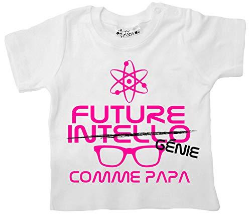 Dirty Fingers Future Intello Tout comme Mon Papa T-Shirt bébé 12-18m Blanc