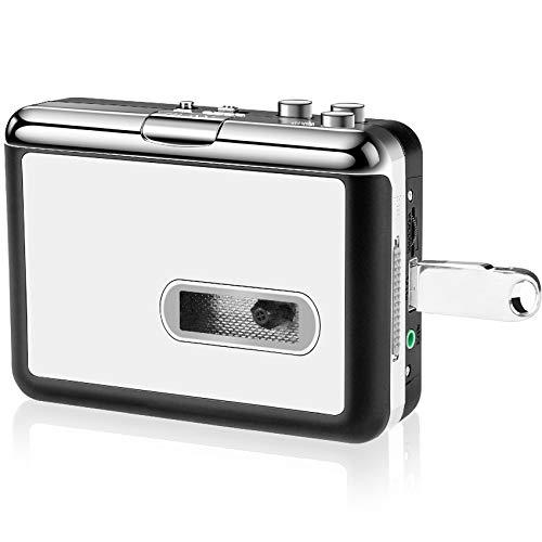 DigitalLife Indipendentemente da Cassette a Convertitore MP3 - Lettore di cassette portatile, salvate le cassette come file MP3 su flash USB [AV205]