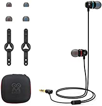 AMVR Noise Isolating Earbuds Earphones Custom Made for Oculus Quest 2 VR Headset, with 3D 360 Degree Sound in-Ear Headphones and Earphone Silicone Holders (Black)