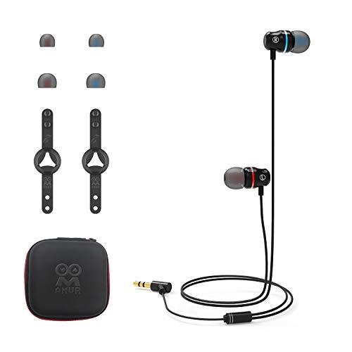 AMVR geluidsisolerende oortelefoon, aangepast voor Oculus Quest 2 VR-Headset, met 3D 360 graden geluid in-Ear hoofdtelefoon en siliconen hoofdtelefoonhouder (zwart)