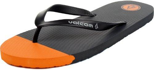 Volcom , Herren Dusch- & Badeschuhe, Schwarz - Charcoal - Größe: 9 D(M) US