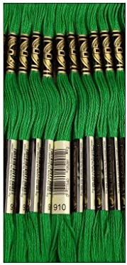 DMC Thread 6 Strand Embroidery Cotton 8 7 Yards Dark Emerald Green 117 910 12 Pack product image