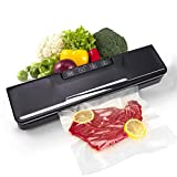 Vacuum Sealer Machine, Automatic Food Sealer Air Sealing System for Food Savers w, Starter Kit, Seal a Meal Foodsave Packing, Lab Tested ,Led Indicator Lights,Dry & Moist Food Modes(30 Pack Bags)