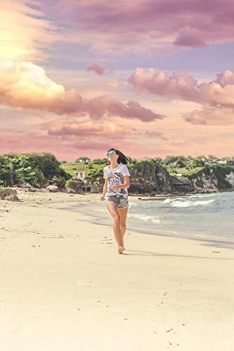 Shenglex Malen nach Zahlen Malerei DIY digitales Kit Leinwand Kunstwerk Gemälde Geschenke Dekorationen (40X50 cm) Rahmenlos--Frau läuft am Meer