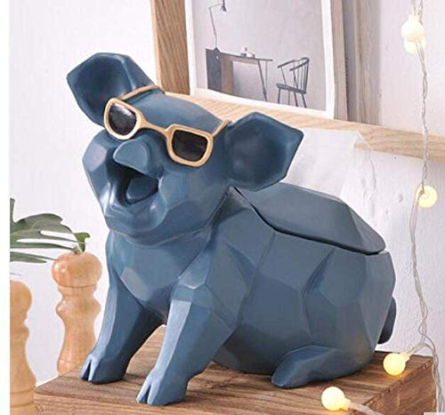 YAeele Tejido caja de pañuelos de dispensadores de papel higiénico caja de almacenamiento caja muy fresco Cerdito tejido de la caja gafas de sol lindo cerdo Inicio tejido de la caja de escritorio Mobi