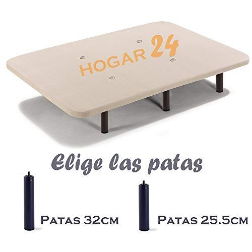 HOGAR24 Base tapizada 135×190 con Tejido 3D Crema y 6 patas de 32cm - 2