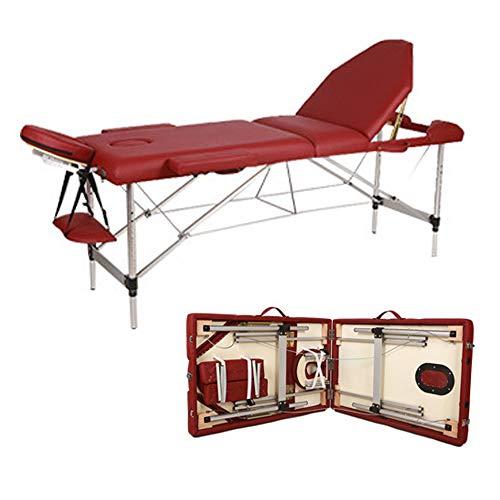 Mesa de Masaje de 3 Secciones Aluminio Camilla Cama Portatil Plegable Ligera...