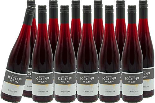 12 Flaschen 2017er Dornfelder Rotwein lieblich Deutscher Qualitätswein 0,75l, direkt vom Erzeuger: Weingut Kopp in Ranschbach