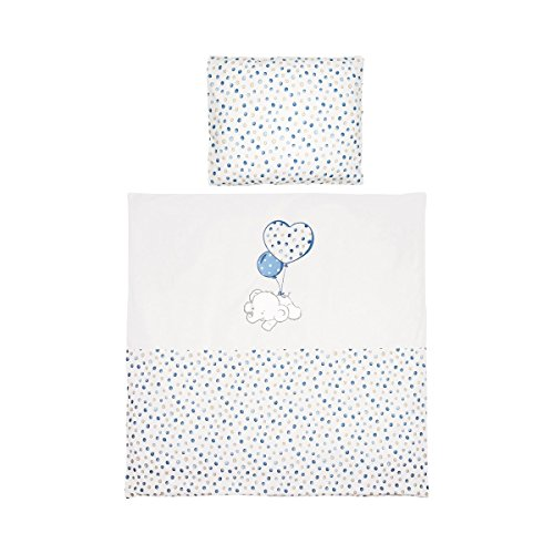 BORNINO HOME La parure de lit Flying Dumbo 35x40 / 80x80 cm, bleu