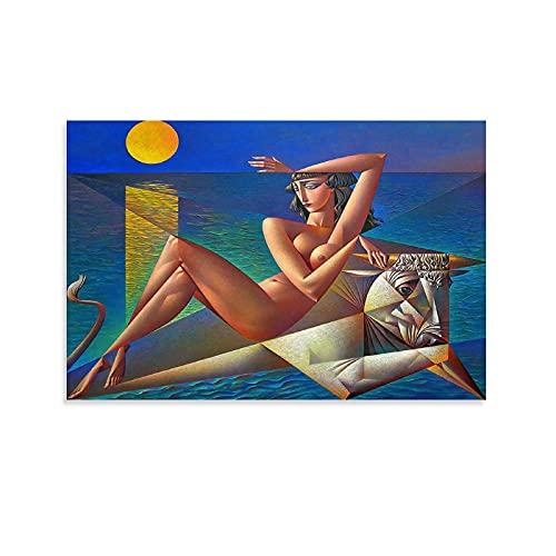 QWDAS George Kurasov Dipinto Figure Artistiche Poster Decorazione Pittura di Tela di Arte Della Parete Salotto Poster Camera da Letto Estetica 30x45cm