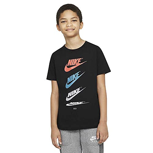 NIKE DH6527-010 B NSW tee Futura Repeat T-Shirt Boys Black L