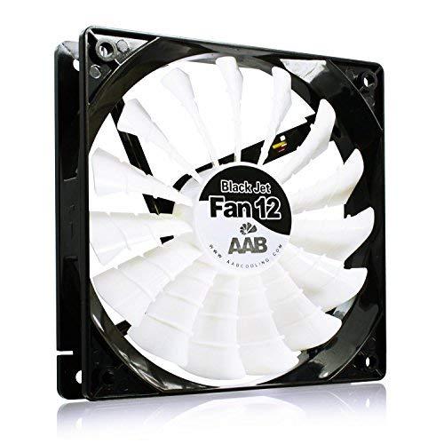 AABCOOLING Black Jet Fan 12 - Un Silencioso y Muy Efectivo Ventilador PC, Fan 120mm, Ventilador 12cm, Fan Cooler, Ventiladores, 170 m3/h, 1600 RPM 20,9 dB(A)