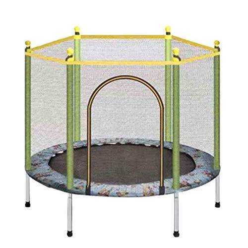 DX Kids Indoor Veiligheid Trampoline, Fitness Trampoline met Behuizing Netto Oefening Trampoline Mini Trampoline Ronde Rebounder Help Kinderen Groeien en spelen