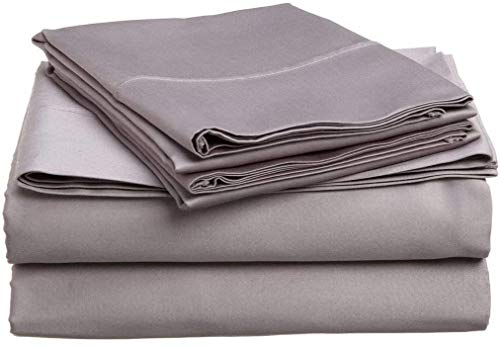"""Rolux linen Queen Sleeper Sofa Bed Sheet Set Luxury - Silver Grey Solid 100% Egyptian Cotton 800 Thread Count Easily Fits mattresses Up to 6"""" inches Deep Pocket."""