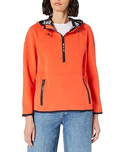 Cecil Damen Hoody Pullover, Papaya orange, M