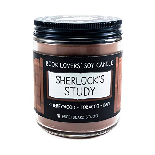 Sherlock's Study - Book Lovers' Soy Candle - 8oz Jar