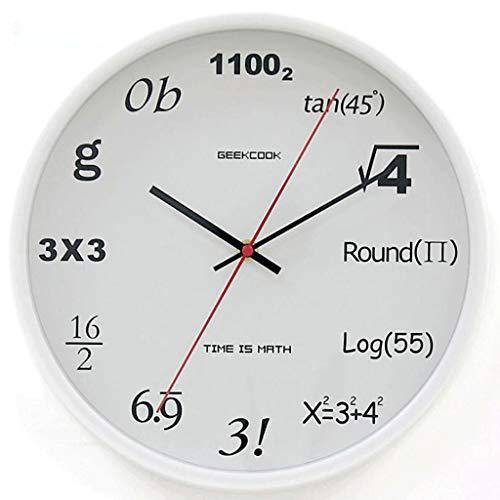 WGYDREAM Wanduhr Wanduhren Wall Clock Digitale kreative Wanduhr, personalisierte Uhr, Uhr Wohnzimmer, Quarzuhr (Color : White)