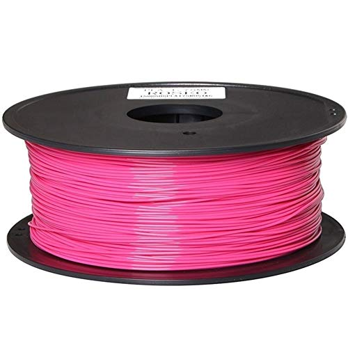Resina de PLA Material de filamento Impresora 3D 1kg Carrete de Material de moldeo for 1,75 mm filamento de Seda para la 3D Pluma (Color : Pink)