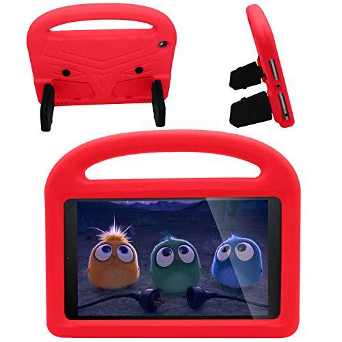 Funda para tablet Kindle Fire HD 8, cuerpo completo, resistente a los golpes, apta para niños, con función atril para tablet Fire HD 8 Plus (décima generación, lanzamiento 2020) (rojo)