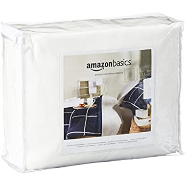 AmazonBasics Fully-Encased Waterproof Mattress Protector - King, Standard 12 to 18-Inch Depth