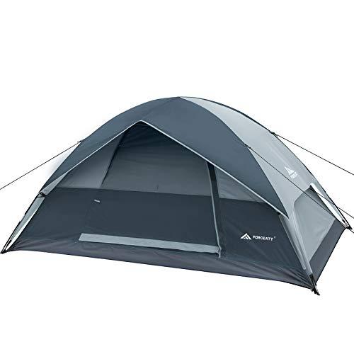 Forceatt Camping Zelt Doppeltür Outdoor Camping Zelt Winddicht und wasserdicht Leichtgewicht Geeignet für Wanderungen im Freien Festivals Backpacking Survival Travel